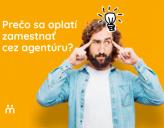 Obrázok muža s textom Prečo sa oplatí zamestnať cez agentúru?